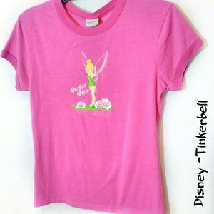 "Disney small pink Tinkerbell ""perfect pixie"" tee"